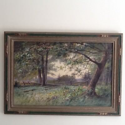George F. Schultz (1869-1934) Original Landscape Watercolor in Period Frame