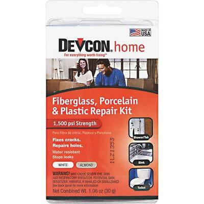 3 Pk Devcon 1.06 Oz. White Fiberglass, Porcelain & Plastic Epoxy Repair Kit Aide