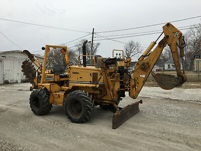 2005 Vermeer V8550A Rubber Tired Hydrostatic Trencher Carbide Blade Backhoe