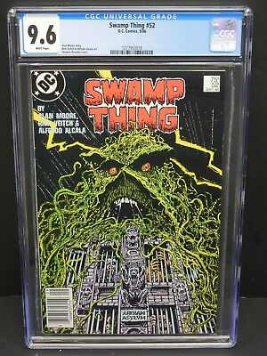 Dc Comics Swamp Thing #52 1986 Cgc 9.6 White Pages Alan Moore Story