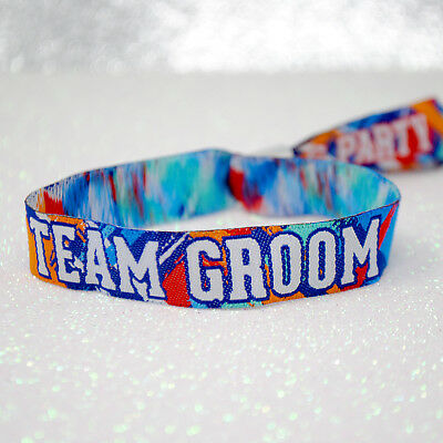 Team Groom Stag Party Wristbands ~ stag do favours accessories
