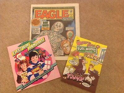 EAGLE & SCREAM #135, 20 Oct 1984, with free gift Fleetway flyer & mini comic