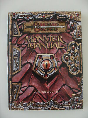 Dungeons & Dragons Monster Manual Core Rulebook III D&D 3rd Edition English HC