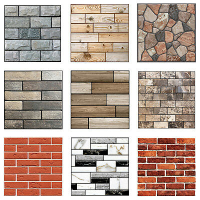 3D Brick Wallpaper Living Room Waterproof Wall Sticker Home Decor Self-Adhesive