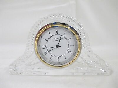 """Waterford Crystal 4"""" H Mantel / Desk Clock w/Japanese Movement"""