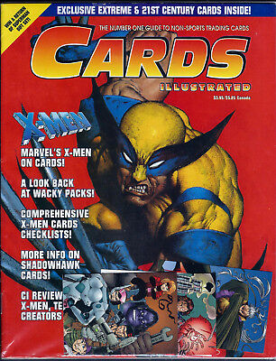 Cards Illustrated #3,  X-Men Wolverine Cover W/ Trading Cards  ~Bagged & Boarded