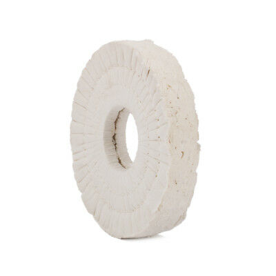 """6"""" 150mm Cotton Airway Buffing Wheel Polishing Pad Compound Tool 40 Plys 2"""" Bore"""
