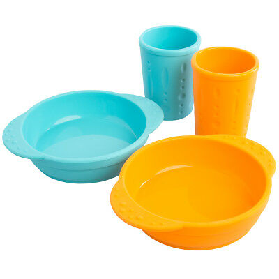 4pc Set Kinderville Silicone Kids Cups and Bowls For Toddlers Baby BPA Free