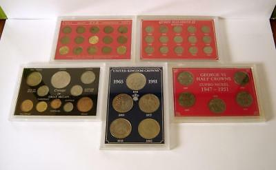 A Collection Of Five Vintage British Coin Sets