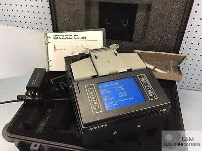 Corning M90 6000 Series Sm Mm Fiber Core Alignment Fusion Splicer Cleaver Siecor