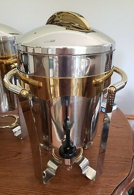 Vollrath 48328 11.6 Qt. Panacea Coffee Urn with Gold Accents