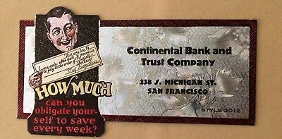 Vintage Ink Blotter Continental Bank & Trust Co. San Francisco-WOW