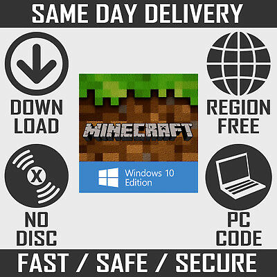 Minecraft: Windows 10 Edition PC Key - Full Game Download (Region Free)