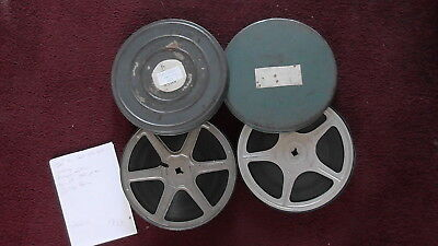 2 x 400ft REELS 16mm B/W SOUND CINE FILM NEWS CLIPS FROM 1950s