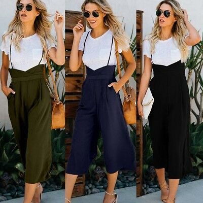 fabe056e752d Women s High Waisted Skinny Pants Overalls Straps Suspenders Rompers  Jumpsuit