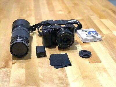 Sony Alpha a6000 24.3MP Digital SLR Camera - Black INCLUDES 16-50mm AND 55-210mm