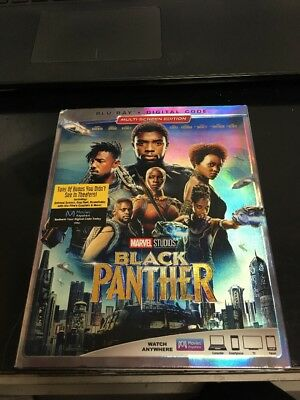 Black Panther Blu-ray + Digital HD & Slipcover Brand New FAST Free Shipping