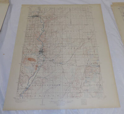 1902 Topographic Map WAUSAU QUADRANGLE/MARATHON COUNTY, WISCONSIN
