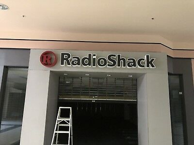 RADIO SHACK SIGN From Aiken mall  More Items Available Email Me Through EBay