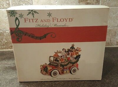 Fitz & Floyd Holiday Musical Santa's Classic Car
