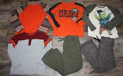 Gymboree Shirt Pants Size Small 5/6 Lot Bear Explorer
