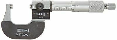 "Fowler Full Warranty Inch Digit Outside Micrometer, 52-224-001-0, 0-1"" Me... NEW"