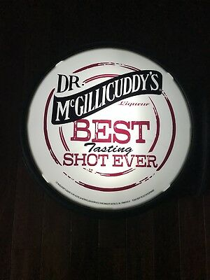 Dr. McGillicuddy's Liqueur Best Tasting Shot Ever Double Sided Lighted Pub Sign