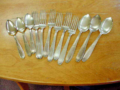 National Silver Co. Vintage Isabella Silverplated Flatware 6 Spoons 6 Forks