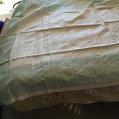 New Zanotto Nives Italian Linen Jacquard Tablecloth And Napkins--Gorgeous