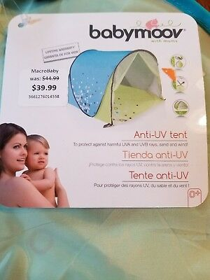 babymoov® Anti-UV Pop-up Portable Tent in Green/Blue with Case