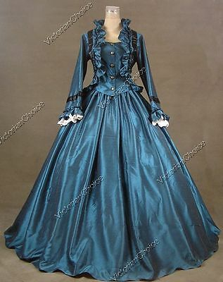 Victorian Civil War Vintage Witch Gown Dress Halloween Theater Clothing N 170 M