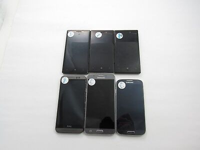 Lot of 6 Assorted CellPhones Verizon Check IMEI Grade D 4-914