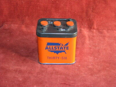 Vintage Promotional Auto Parts Advertising Allstate 36 Auto Battery Coin Bank 30