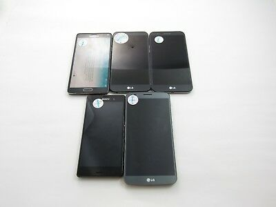 Lot of 5 Assorted CellPhones T-Mobile Check IMEI Grade E 4-465