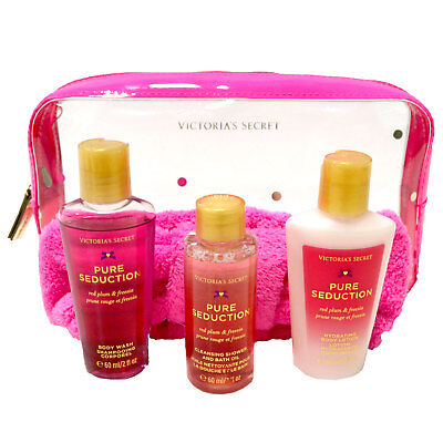 Victoria's Secret Pure Seduction Gift Set Body Wash Lotion Oil New Nwot Damaged