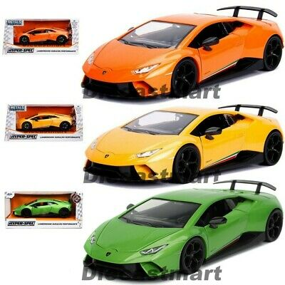 Lamborghini Huracan Performante 1:24 Diecast Car Model By Jada Orange Yellow New