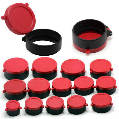 Rifle Scope Cover Quick Flip Open Lens Cover Cap Eye Protect Objective Lens Caps