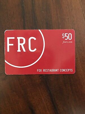 Fox Restaurant Concepts Gift Card $50 Value