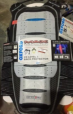 Oxford Max Protection Ce Level 2 Back Protector 7 Plate Xl Mens