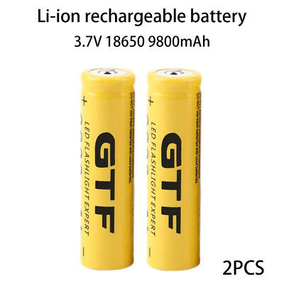 High-Capacity 18650 Battery 9800mAh Cell Battery Torch Power Bank