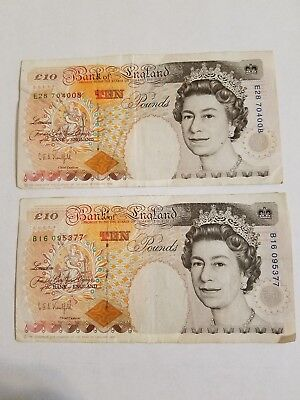 Lot of 26 Pounds from Bank of England Banknotes - Circulated