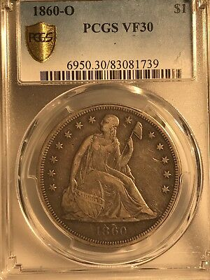 1860-o $1 Seated Liberty Dollar PCGS VF30 83081739