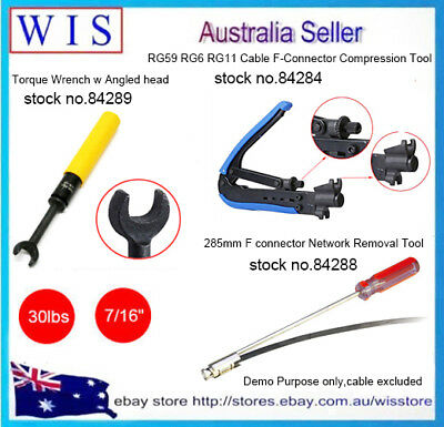 NBN HFC Coaxial Compression Tool Set& F Connector Insertion Tool & Torque Wrench