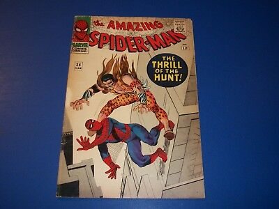 Amazing Spider-man #34 Silver Age Kraven Wow Fine- Beauty