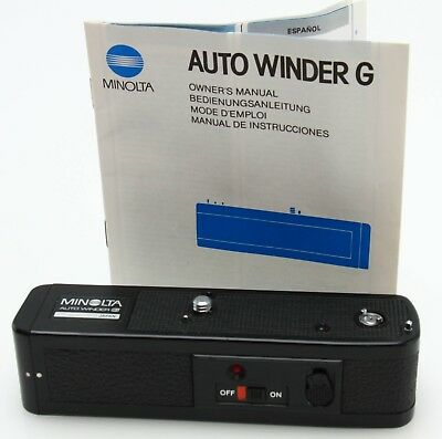 Minolta Auto Winder G  for X-700, 500, 570, XG w/ instr fully tested 371872