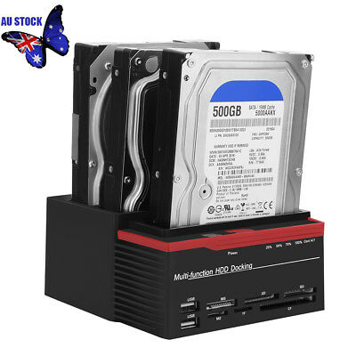 Triple Bay USB 3.0 to SATA IDE HDD Docks Station Clone 2.5''/3.5'' Hard Drive