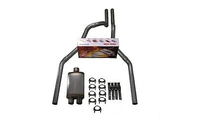 "Chevy GMC 1500 Truck 88-95 3/"" Dual Exhaust Kits Flowmaster Super 44 Slash Tip"