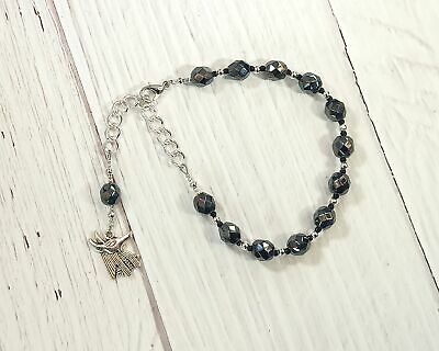 Anubis Prayer Bead Bracelet: Egyptian God of the Underworld and the Afterlife, G