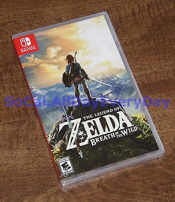 The Legend of Zelda: Breath of the Wild (Nintendo Switch) BRAND NEW & SEALED nsw