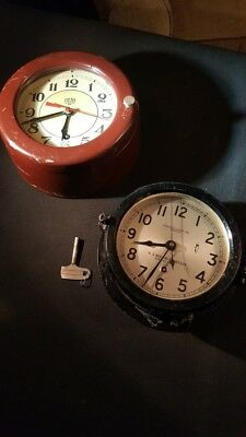 WW2 Chelsea US Maritime Commission Ship Clock and German made submarine clock